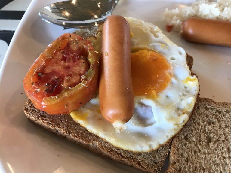 クラビのホテルの朝食