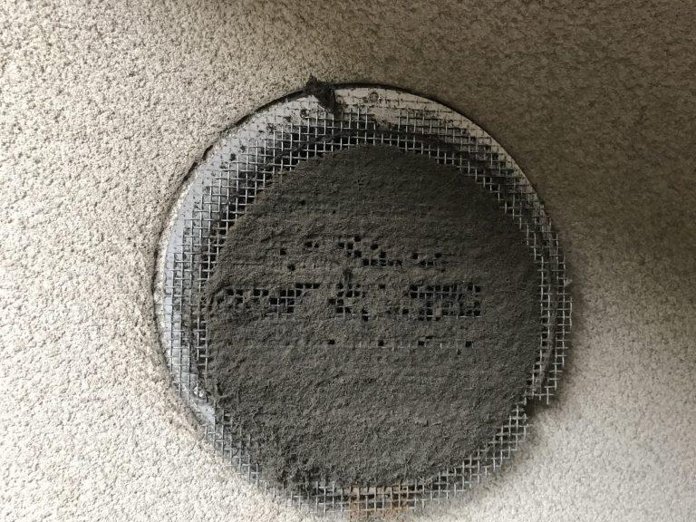 給気口のフィルターに溜まった埃や汚れ