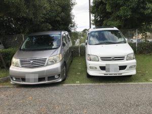 大きな車も駐車可能